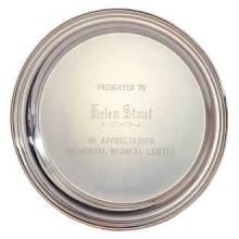 "Custom Engraved Silver Tray – 10"" Design #P-300-B"