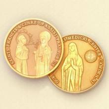 Custom Healthcare Coin Medallion – St. Francis Design #8023