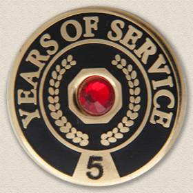Years of Service with Gem Lapel Pin #621