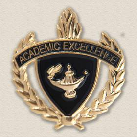 Stock Education Lapel Pin – Shield Design #7031