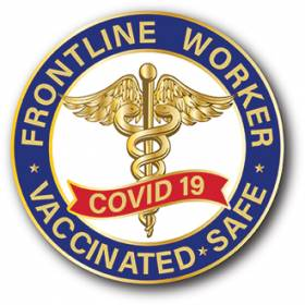 Stock Covid-19 Lapel Pin – Vaccinated Design #CV106