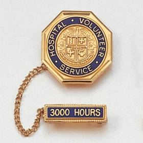 Hospital Volunteer Service Lapel Pin #100