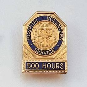 Hospital Volunteer Service (Hours) Lapel Pin #116-H