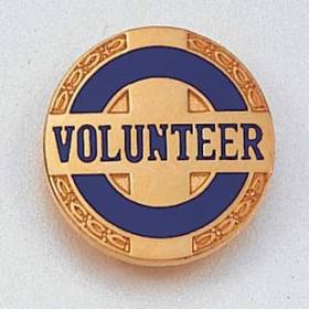 Stock Volunteer Lapel Pin – Circle and Cross Design #118