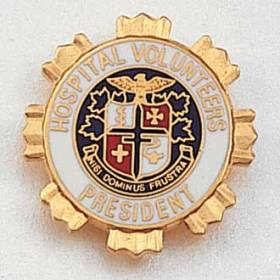 Hospital Volunteers President Lapel Pin #119