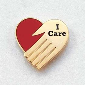 Stock I Care Lapel Pin – Heart Design #131