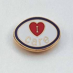 Stock I Care Lapel Pin – Heart Design #134