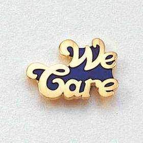 Stock We Care Lapel Pin – Letters Design #135