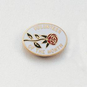 Stock Volunteer Lapel Pin – Rose Design #138