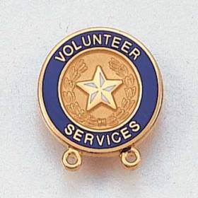 Stock Volunteer Lapel Pin – Star and Wreath Design #152