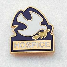 Stock Hospice Lapel Pin – Dove Design #164