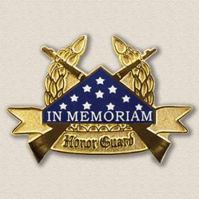 In Memorium Honor Guard Lapel Pin #2005