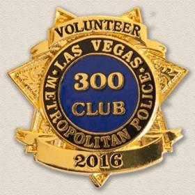 Las Vegas Metropolitan Police 300 Club Lapel Pin #2020