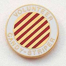 Stock Junior Volunteer Lapel Pin – Candy-Striper Design #203