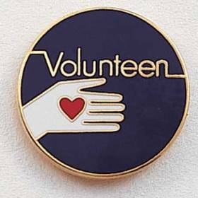 Stock Junior Volunteer Lapel Pin – Hand and Heart Design #214