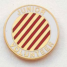 Stock Junior Volunteer Lapel Pin – Candy-Striper Design #216