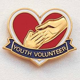 Stock Junior Volunteer Lapel Pin – Hands and Heart Design #230
