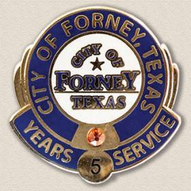 City of Forney Years Service Lapel Pin #3006