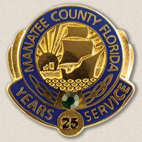 Manatee County Years Service Lapel Pin #3007