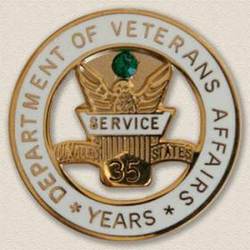 Department of Veterans Years Service Lapel Pin #3010