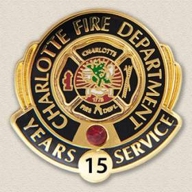 Custom Fire Department Pin – Badge Design #3016