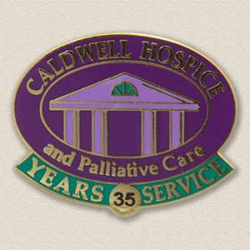 Custom Hospice Lapel Pin – Building Design #4003
