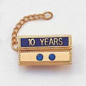 Year Bar Attachment with 2 Gems #420-YG2
