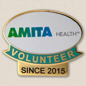 Custom Volunteer Pin – Since Design #5014