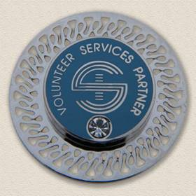 Custom Brooch – Volunteer Services Partner Design #5023