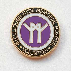 Custom Volunteer Lapel Pin – Hospital Logo Design #564