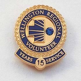 Custom Volunteer Lapel Pin – Hospital Logo Design #566