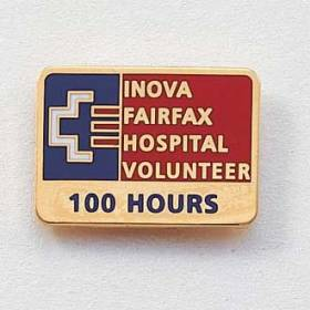 Custom Volunteer Lapel Pin – Hospital Logo Design #570