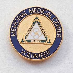 Custom Volunteer Lapel Pin – Hospital Logo Design #571