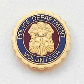 Police Department Volunteer Lapel Pin #626