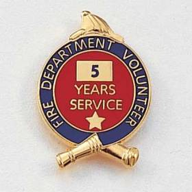 Fire Department Volunteer Years Service Lapel Pin #627