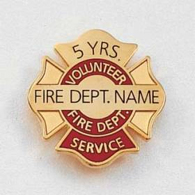 Volunteer Fire Dept. Years of Service Lapel Pin #628
