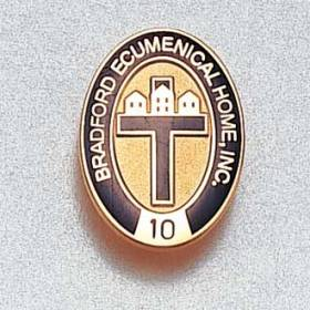 Custom Assisted Living Lapel Pin – Cross Design #630