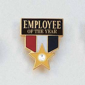 Stock Employee Lapel Pin – Employee of the Year Style #672