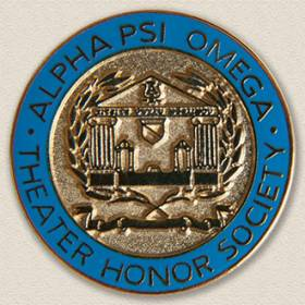 Alpha Psi Omega Theater Honor Society Lapel Pin #7011