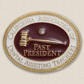 Custom Association Lapel Pin – Gavel Design #7022