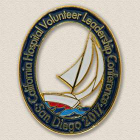 California Hospital Volunteer Leadership Conference Lapel Pin #8015