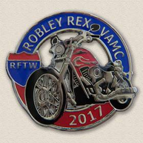 Custom Special Event Lapel Pin – Motorcycle Design #8017