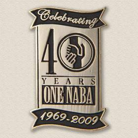 Custom Anniversary Lapel Pin – Banner Design #8022