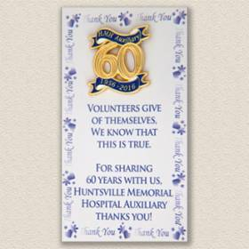 Custom Special Event Lapel Pin – Anniversary Design #8024