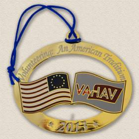 Custom Volunteer Association Ornament – Flag Design #8033