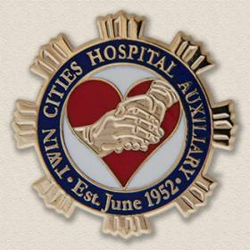 Custom Anniversary Pin – Hands & Heart Design #8037