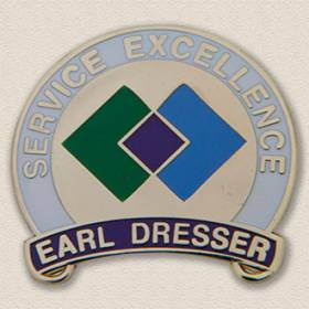 Custom Customer Service Lapel Pin – Excellence Design #8048