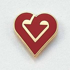 Stock I Care/We Care Lapel Pin – Heart and Arrow Design #838