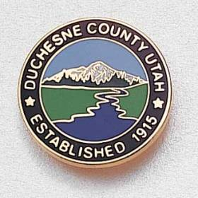 Custom County Lapel Pin – Mountain Design #855
