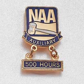 Custom Auxiliary Lapel Pin – Gavel Design #873
